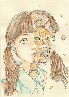 Shintaro Kago Bizarre Art, Creepy Art, Arte Horror, Horror Art, Art Sinistre, Art Hippie, Ero Guro, Japanese Horror, Surreal Artwork