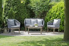 Albany Gartenmöbel Lounge Set #loungemanufaktur Outdoor Furniture Sets, Outdoor Decor, Modern, Design, Home Decor, Grey Cushions, Patio Dining Sets, Beach Tops, Chair Pads