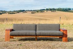 Custom made recycled timber frame couch