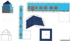 Макеты в детском саду фото House Template, Preschool Crafts, Paper Crafts, Letters, Templates, Google, Paper Envelopes, Little Cottages, Crafting
