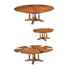 Off Walnut Jupe Dining Table, Large by Sarreid. Solid Walnut Old World Walnut Finish @ 84 inches fully opened @ 64 inches closed Circular Dining Table, Walnut Dining Table, Dining Table Design, Dining Tables, Dining Room, Corner Nook Dining Set, Winsome Wood, Liberty Furniture, Drop Leaf Table