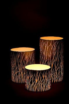 Tall Grass Luminaries in Black: Tabbatha Henry: Ceramic Candleholders - Artful… Ceramic Lantern, Ceramic Light, Pottery Bowls, Ceramic Pottery, Luminaria Diy, Ceramic Pinch Pots, Keramik Design, Pottery Sculpture, Diy Interior