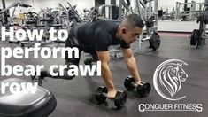 How to perform bear crawl row! Best Workout Videos, Workout Videos For Women, Workout Plan For Men, Weekly Workout Plans, Workout Ideas, Bear Crawl, Womens Workout Outfits, Fitness Motivation, Women's Fitness