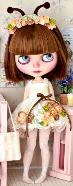 OOAK Custom Blythe Doll made by mapoupeecherie. by miriCshop on Etsy https://www.etsy.com/listing/513889651/ooak-custom-blythe-doll-made-by