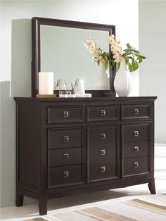 White Bedroom Dresser with Mirror | Bedroom Dressers | Pinterest ...