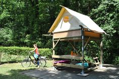 Budgettip: Tenthuisje voor je fietsvakantie in Frankrijk - Elke dag vakantie.nl