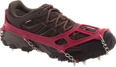The Kahtoola MICROspikes® provide unrivaled traction and versatility and are designed for a variety of activities including hiking, running, backpacking and ice fishing. Ideal for use on icy and snowy trails and off-trail terrain, stainless steel s Insulated Boots, Large Women, Red S, 1 Oz, Your Shoes, Cleats, Hiking Boots, Running Shoes, Slip On