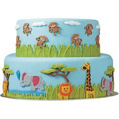 Fondant Gum Paste Mold-Jungle Animals - Overstock™ Shopping - Big Discounts on Wilton Cake Decoration Tools Más Zoo Cake, Jungle Cake, Jungle Theme, Wilton Fondant, Fondant Molds, Cake Mold, Decorating Tools, Cake Decorating, Safari Cakes