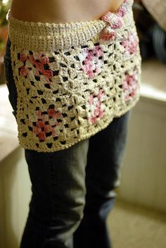 Granny Square Apron....I have to make one of these