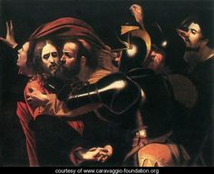 The Taking of Christ - 1598 - Caravaggio - Professional Artist is the foremost business magazine for visual artists. Visit ProfessionalArtistMag.com.- www.professionalartistmag.com