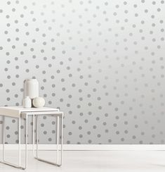 A spotty metallic wallpaper design in grey/silver from Crown's Starlight Wallpaper Collection. Go Wallpaper UK stock a wide range of Crown wallpaper Spotted Wallpaper, Wallpaper Uk, Metallic Wallpaper, Paper Wallpaper, Wallpaper Ideas, Decorating Your Home, Interior Decorating, Stunning Wallpapers, Contemporary Wallpaper