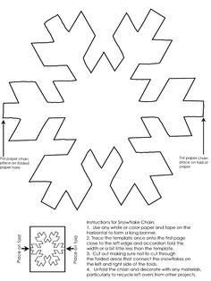 Paper Chain Snowflakes | Paper chains, Chains and Holidays