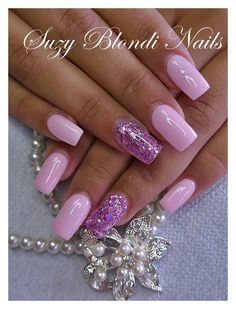 Pink and purple nails Fabulous Nails, Gorgeous Nails, Pretty Nails, Hot Nails, Hair And Nails, Dipped Nails, Purple Nails, Purple Sparkle, Pink Purple