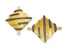 CZ Gold Plated Connectors, Bracelet Connector, Jewelry Findings for Jewelry Making, Jewelry Supplies, DIY Jewelry, Bulk Charms, 42x35mm Diy Jewelry Projects, Jewelry Supplies, Craft Supplies, Jewelry Shop, Handmade Jewelry, Jewellery Box, Jewelry Accessories, Bracelet Making, Jewelry Making