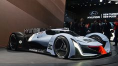 There has been no shortage of wild Vision Gran Turismo concepts. Frankfurt alone already has one, in the shape of Bugatti's Vision GT. But we've got a hunch the most exciting looking of the lot could actually be this, Frankfurt's other Vision GT. Le Mans, Sport Cars, Race Cars, New Hyundai, Auto Hyundai, Mc Laren, Futuristic Cars, Automotive Design, Automotive News