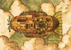 「飛行船 イラスト」の画像検索結果