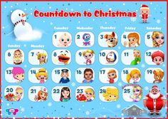 Christmas Apps, Christmas Countdown, Free Printable Calendar, Free Printables, Holiday Games, Happy Holidays, Your Child, Your Favorite, Merry