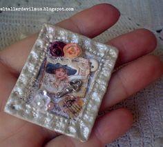 ''El Taller de ViLmuS''  Hand made miniature collage vintage
