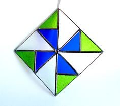 Mini Stained Glass Quilt Window - Home Decor- OOAK. Starting at $5 on Tophatter.com!