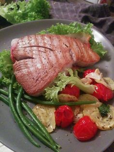 Thunfisch steak mit gebackenem gemüse..traumhaft lecker*.*