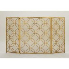 With its ornate design and dazzling gold finish, the DecMode Home and Hearth Brass Iron Octagon Pattern Fireplace Screen lends a regal touch to. Metal Fireplace, Farmhouse Fireplace, Fireplace Bookshelves, Fireplace Garden, Shiplap Fireplace, Black Fireplace, Fireplace Hearth, Fireplace Remodel, Fireplace Design