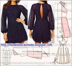 VESTIDO FÁCIL DE FAZER - 50 | Moldes Moda por Medida | Bloglovin'