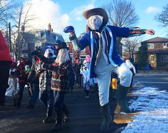 Mummering in Newfoundland was a dying tradition but the Mummers Festival in St. John's is bringing it back and making it relevant in an urban setting. Mummers Parade, Sorel Boots, Hobby Horse, Urban Setting, Just Run, Horse Head, Newfoundland, Christmas And New Year, New Friends