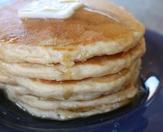 These are the best, fluffiest whole wheat pancakes! I used whole wheat bread flour (Robin Hood) and Naturegg Simply Egg Whites (3T + 2t). The batter is very thick so bake them slowly (300-325F in electric frying pan).