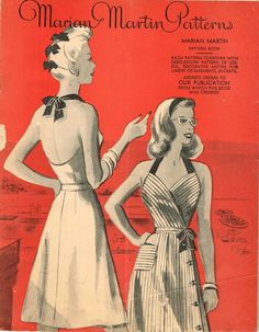 1940s Marian Martin Catalog Ebook on CD Summer 1944 Pattern Book Picture Pack  #MarianMartin