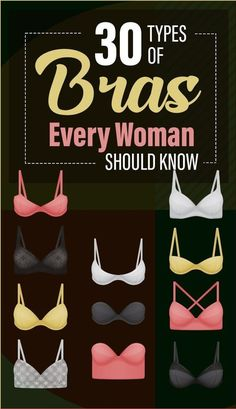 30 Types of Bras Every Woman Should Know