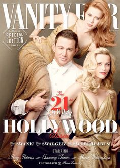 Part of its 21st annual Hollywood issue, Vanity Fair has enlisted top stars including Amy Adams, Channing Tatum and Reese Witherspoon to appear on the front cover. Photographed by Annie Leibovitz, the cover also includes Felicity Jones, David Oyelowo, Benedict Cumberbatch, Sienna Miller, Miles Teller, Oscar Isaac and Eddie Redmayne. See the full version of the spread below.