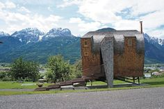 Ufogel House in Lienz, Austria by Architekterbüro Jungmann and Aberjung Design Agency | #architecture #tinyhome