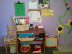 Preschool Writing Area