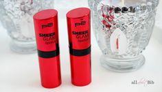 P2 Sheer Glam Lipstick – Friends Forever & Lovely Trust