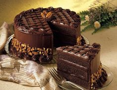 Search result for pecan fudge cake. Easy and delicious homemade recipes. See great recipes for Coca cola fudge cake too! Food Cakes, Cupcake Cakes, Chocolate Cake Photos, Desserts Rafraîchissants, Fudge Cake, Cakes And More, Cheesecake Recipes, Let Them Eat Cake, Yummy Cakes