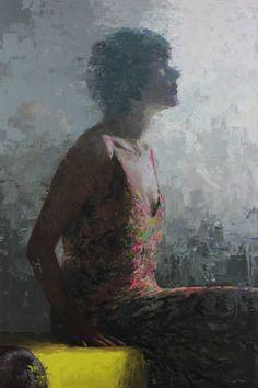 "Ascending 24"" x 36"" oil on panel $5,600 (framed) Mia Bergeron"