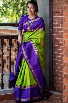 Kanjivaram Sarees Silk, Mysore Silk Saree, Indian Silk Sarees, Soft Silk Sarees, Prakash Silks Kanchipuram, Latest Silk Sarees, Pattu Saree Blouse Designs, Blouse Neck Designs, Blouse Patterns