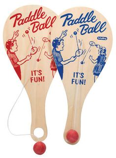 Paddle Ball Game. The problem was that if the ball came off the paddle had a whole other life that was less fun!