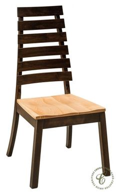Our Mollino Ladder Back Chairs may be customized in the wood, seat option, and hand rubbed stain you instruct our Amish artisans to use to build them. Cheap Dining Chairs, World Market Dining Chairs, Wooden Dining Room Chairs, Kitchen Chairs, Garden Furniture Sets, Amish Furniture, Wooden Furniture, Furniture Design, Ladder Back Chairs