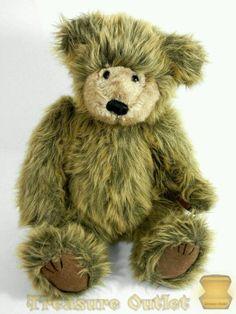 Bath & Body Works Stuffed Plush Brown Shaggy Sitting Teddy Bear Aspen #BathandBodyWorks