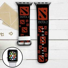 Dota 2 Custom Apple Watch Band Leather Strap Wrist Band Replacement