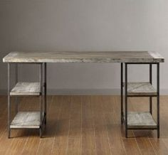 Amazon.com: Renate Contemporary Wood-Metal Home Office Table Modern Computer Desk: Kitchen & Dining