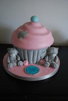 Me to you bear giant cupcake - For all your cake decorating supplies, please visit craftcompany.co.uk