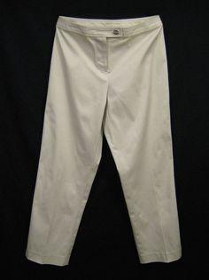 6d980d155729 Ann Taylor Khaki Chinos Pants Women Size 2P Beige Petite Jeans Trouser NEW  #AnnTaylor #