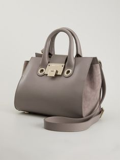 Grey leather small 'Riley' tote from Jimmy Choo