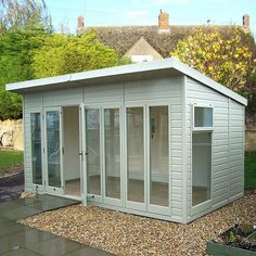 The Malvern Studio Pent garden office/summerhouse is available from GBC Group in a choice of timber finishes and a range of sizes.