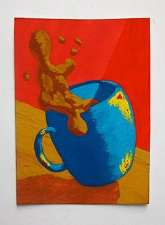 The Morning Cup of Coffee 176 ARTIST TRADING CARDS by MikeKrausArt