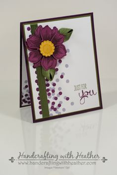 Beautiful Bunch card from Stampin' Up!  Heather Van Looy, Independent Stampin' Up! Demonstrator in Johns Creek, GA.  For more great projects, follow my blog (www.handcraftingwithheather.com).