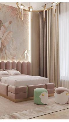 Luxury Kids Bedroom, Modern Kids Bedroom, Kids Bedroom Furniture, Room Ideas Bedroom, Girls Bedroom, Bedroom Decor, Unique Furniture, Luxury Interior Design, Interior Architecture