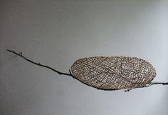 'Jueki' - beech twigs, waxed linen string - Kazuhito Takadoi